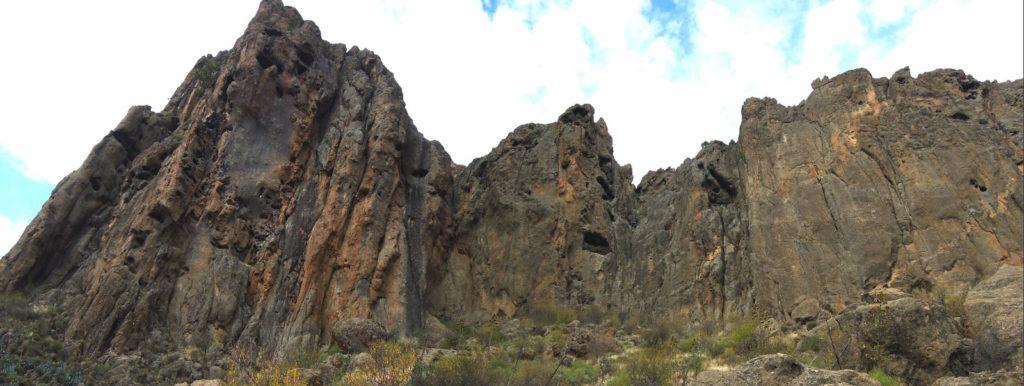 escalada frontón de Ayacata Gran Canaria